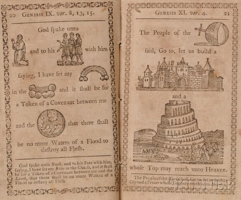 Bible, English, Selections. A Curious Hieroglyphick Bible