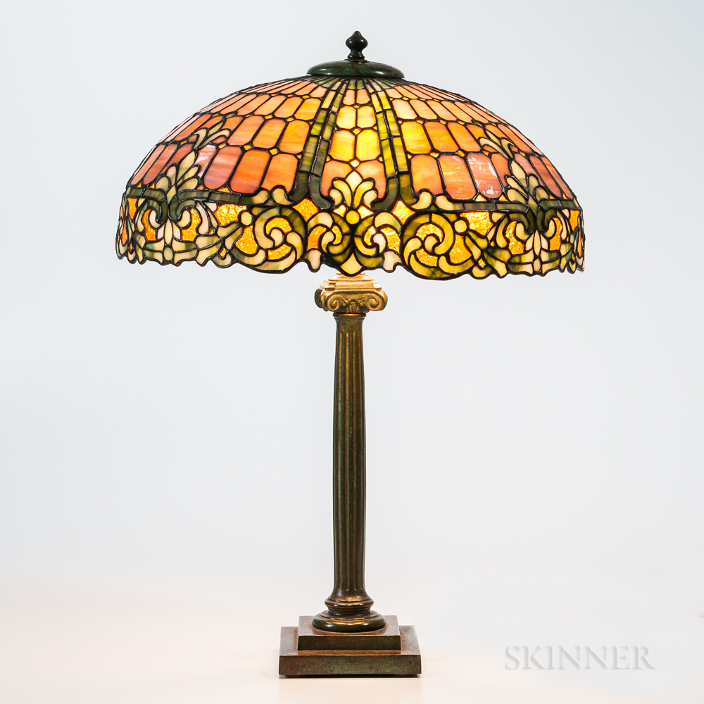 Mosaic Glass Table Lamp Attributed to Kimberly & Duffner