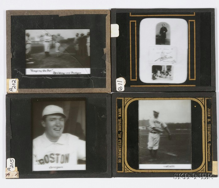 Four Photographic Magic Lantern Slides
