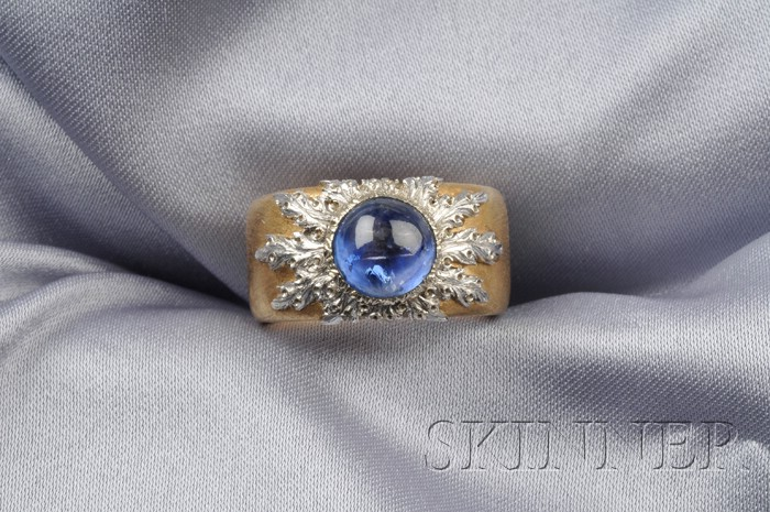 18kt Gold and Sapphire Ring, Buccellati, Italy