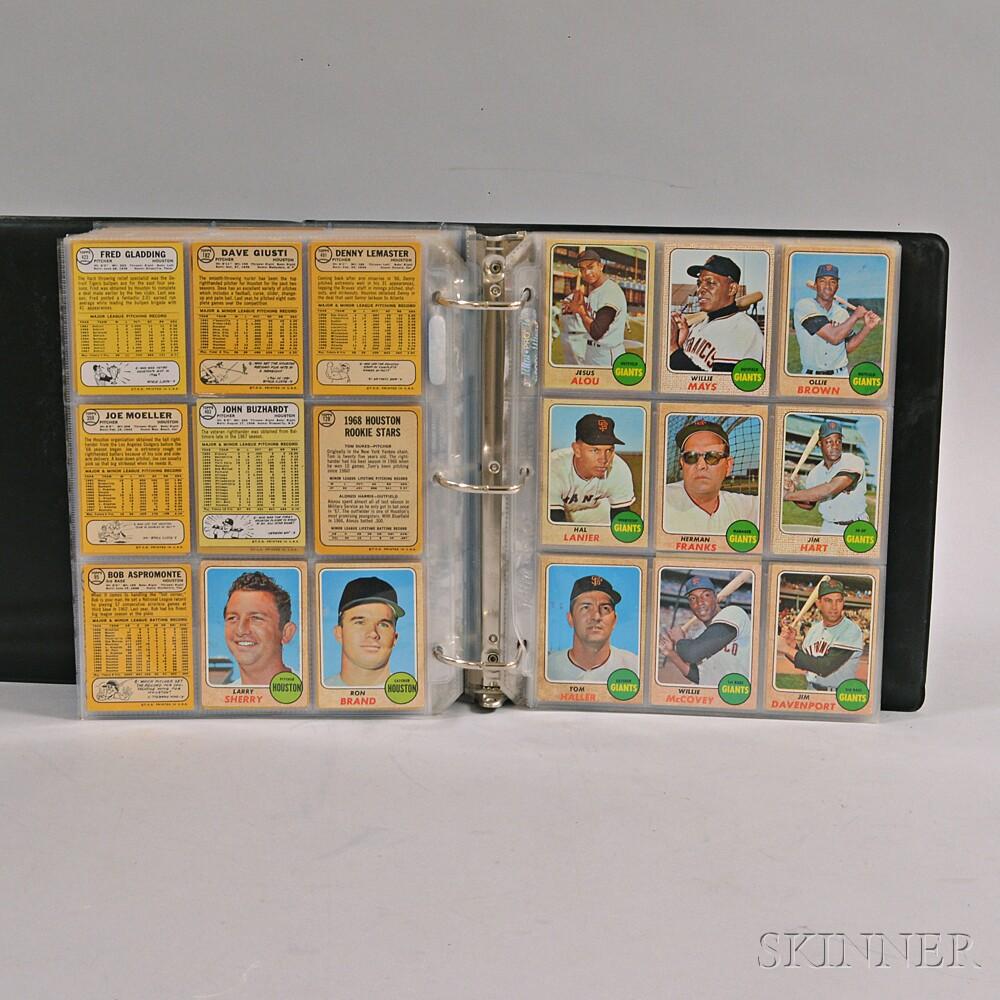 1968 Topps Baseball Near Complete Set