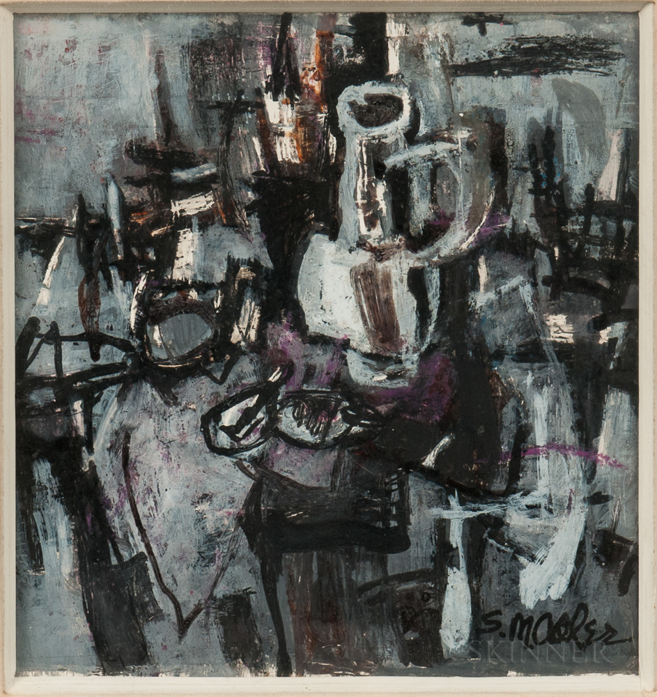 Samuel Marcus Adler (American, 1898-1979)      Abstract Still Life with Jug