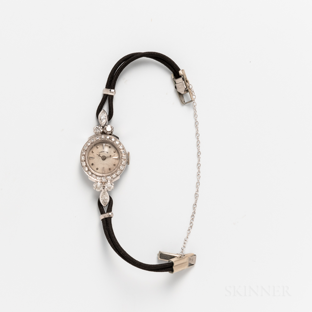 Chronoton Platinum and Diamond Lady's Wristwatch