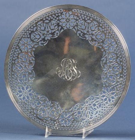 Gorham Reticulated Sterling Cake Plate