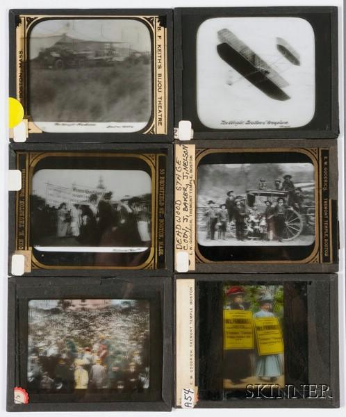 Six Photographic Magic Lantern Slides