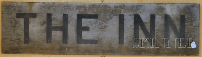 """Painted Wood Sign """"The Inn,"""""""