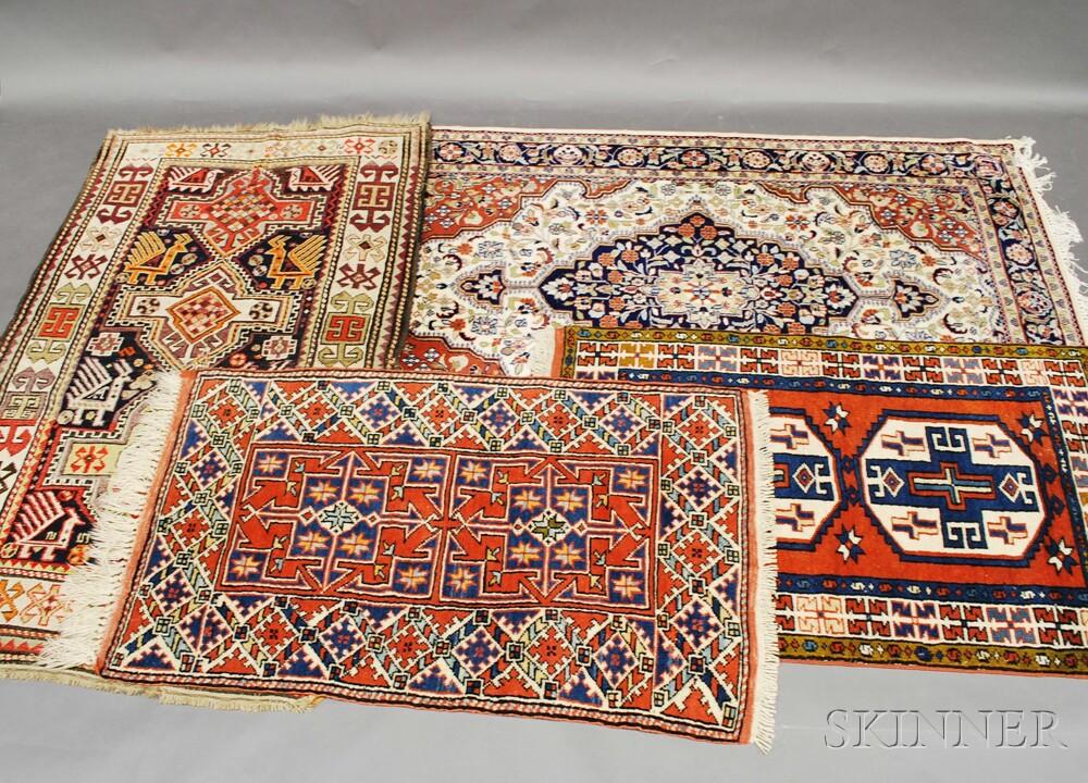 Four Modern Oriental Scatter Rugs
