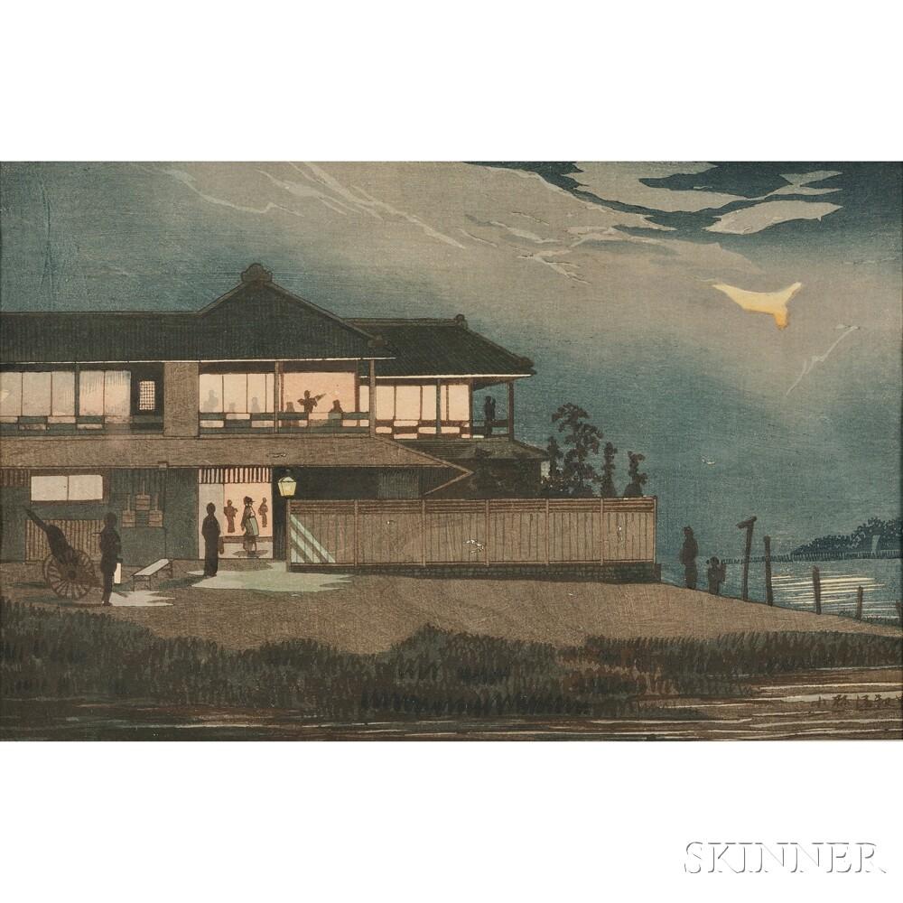 Kobayashi Kiyochika (1847-1915), Ariakero Teahouse, Imado