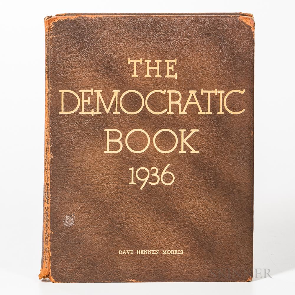 Roosevelt, Franklin Delano (1882-1945) The Democratic Book, 1936  , Signed.