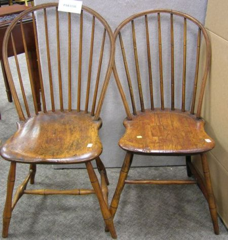 Three Windsor Bow-back Side Chairs.