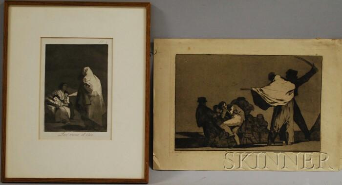 Francisco Goya (Spanish, 1746-1828)      Lot of Two Aquatints: