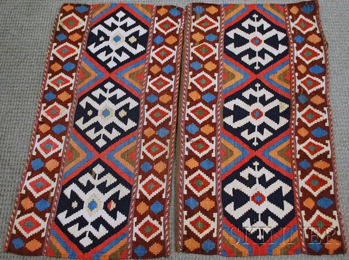 Pair of Shahsavan Kelim Cargo Bag Side Panels