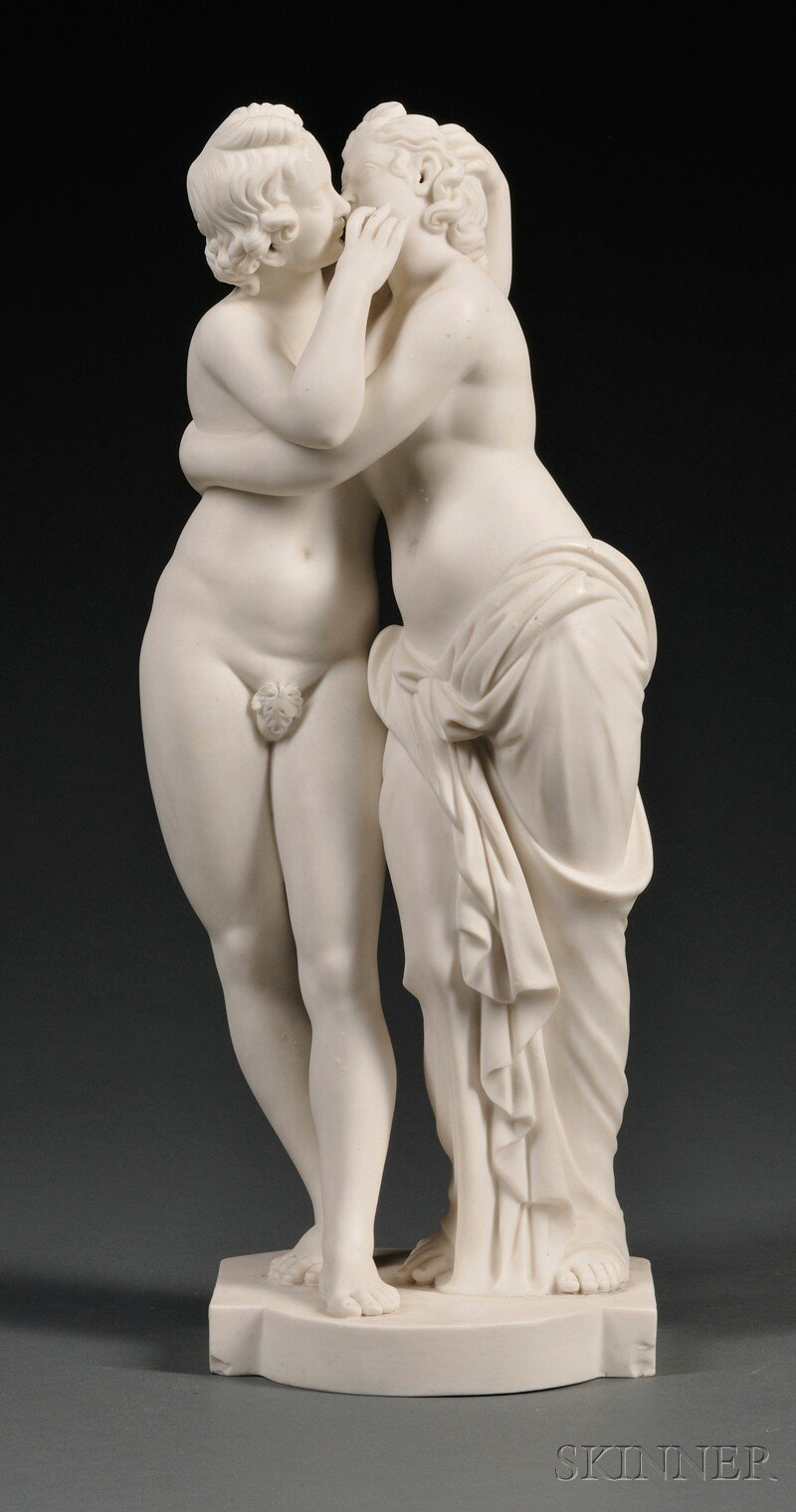Minton Parian Figural Group of Cupid and Psyche