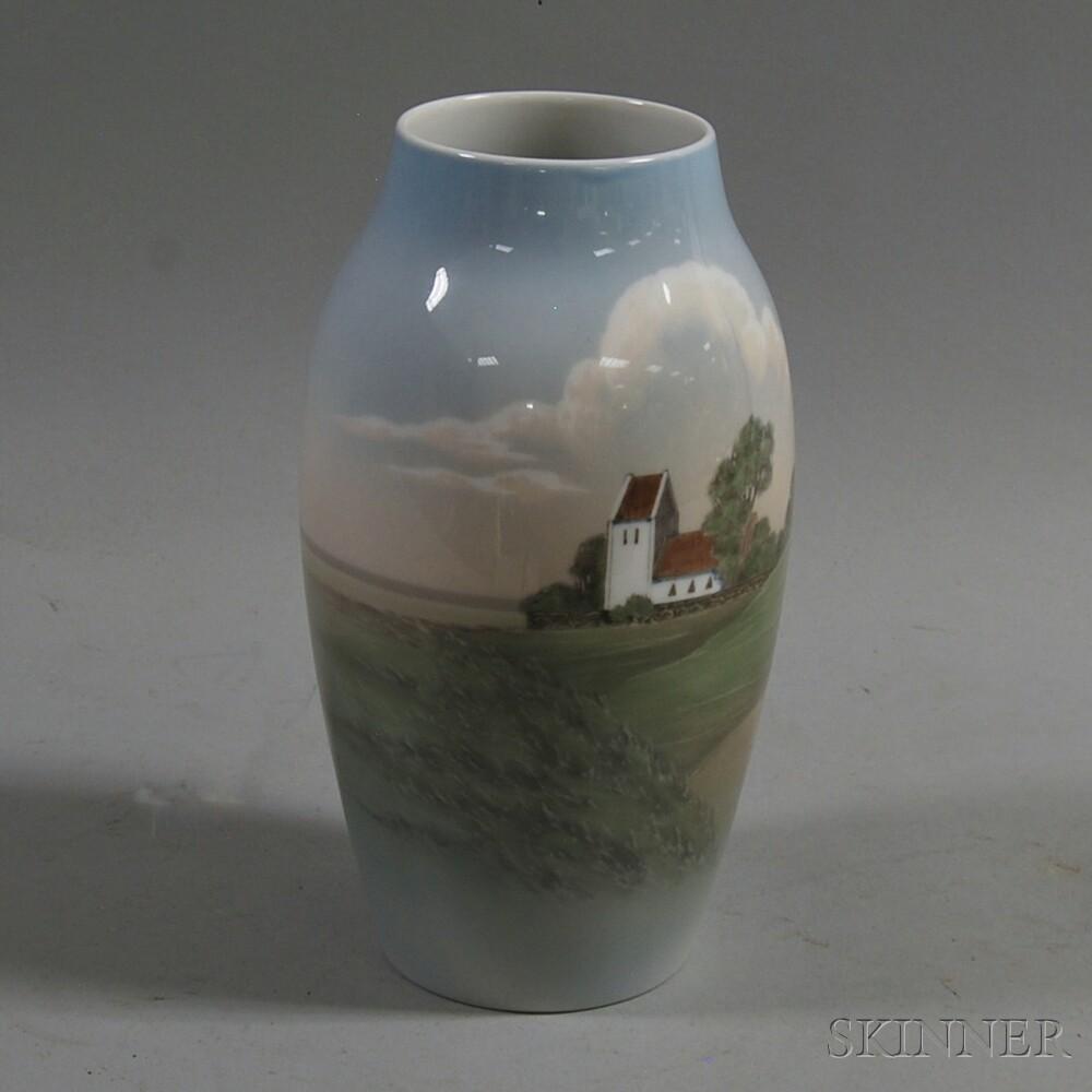 Bing & Grondahl Scenic Porcelain Vase
