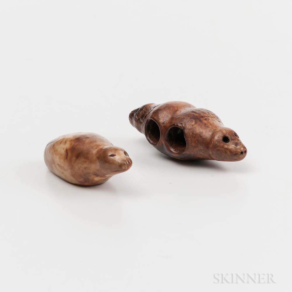 Two Eskimo Seal Toggles
