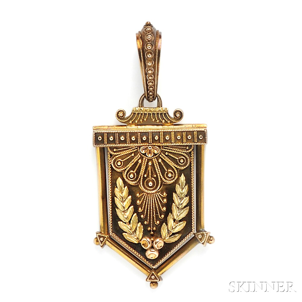 Antique Tricolor Gold Locket