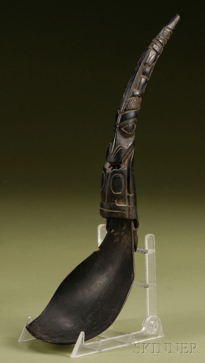 Northwest Coast Carved Horn Spoon