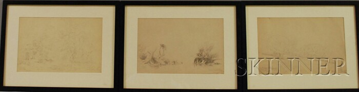 Russell Smith (American, 1812-1896)      Lot of Six Landscapes
