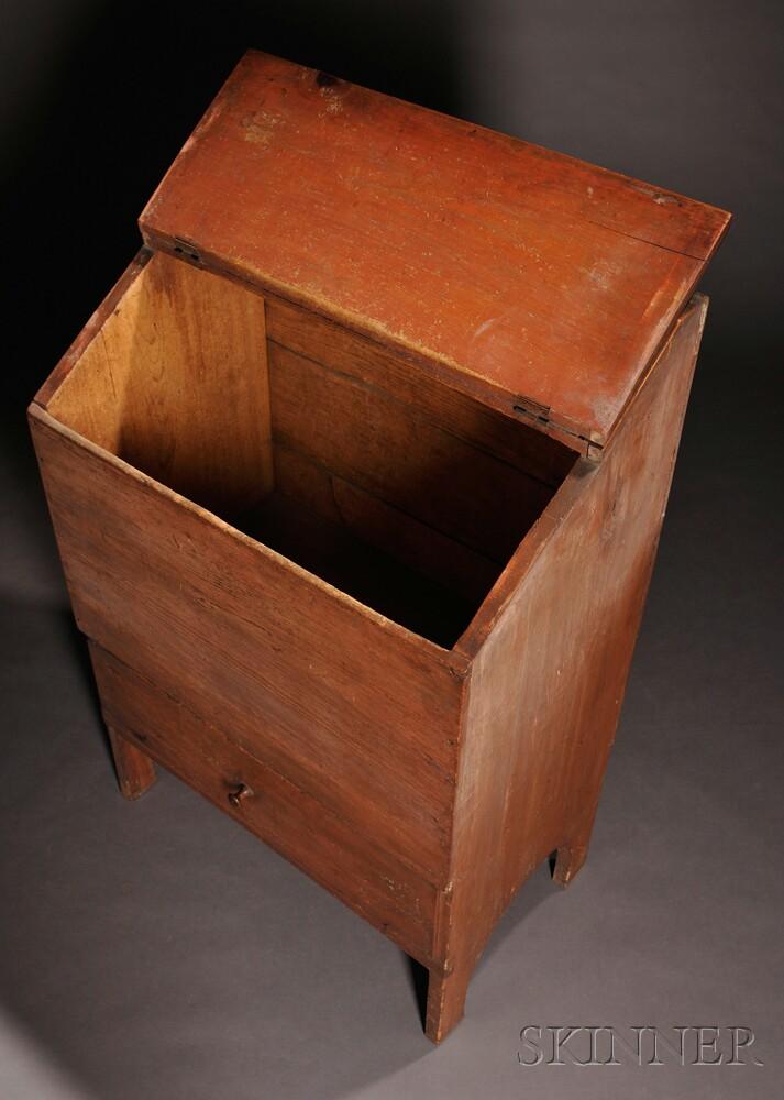 Shaker Wood Box over Drawer