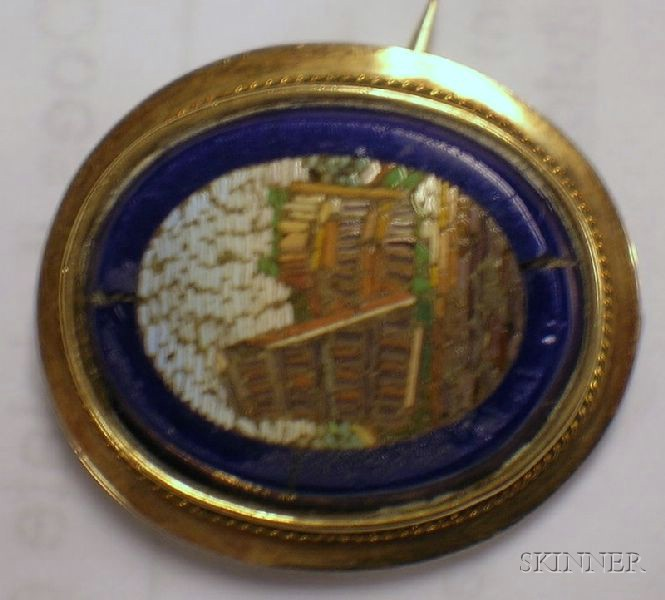 Seven Pieces of Italian Micromosaic Souvenir Jewelry