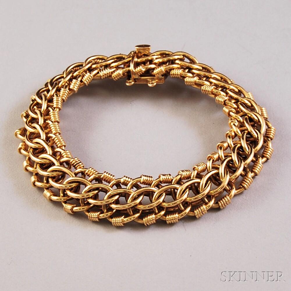 18kt Gold Openwork Link Bracelet