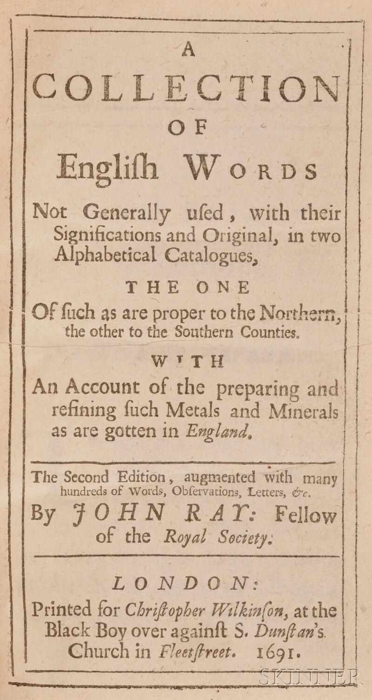 Ray, John (1628-1705)
