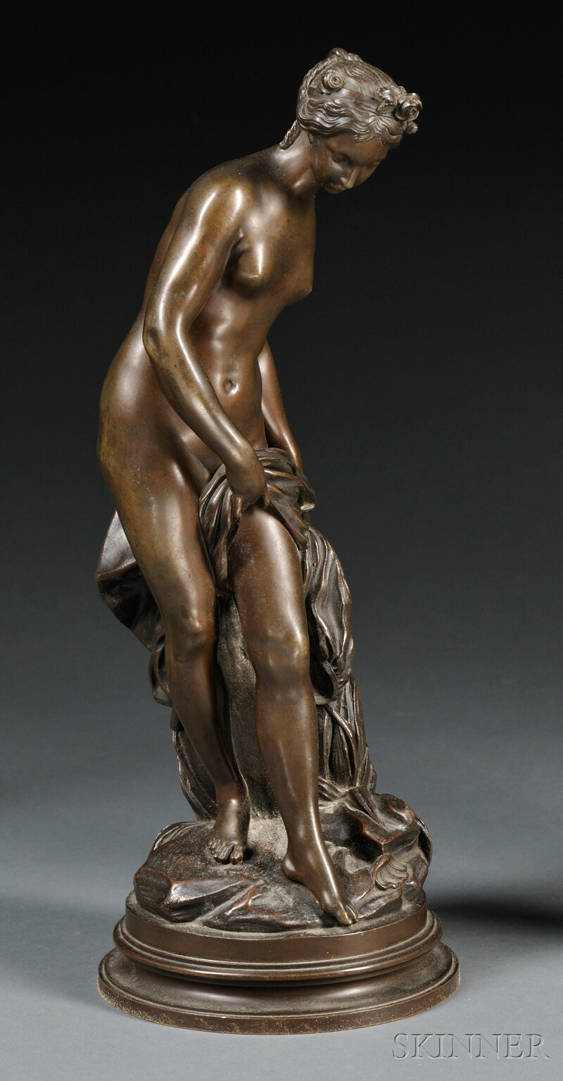 Classical-style Bronze Figure of a Young Maiden