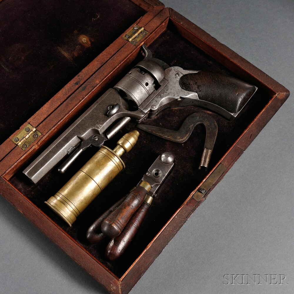 Cased Paterson Number Two, Fifth Model Ehlers Pocket Revolver