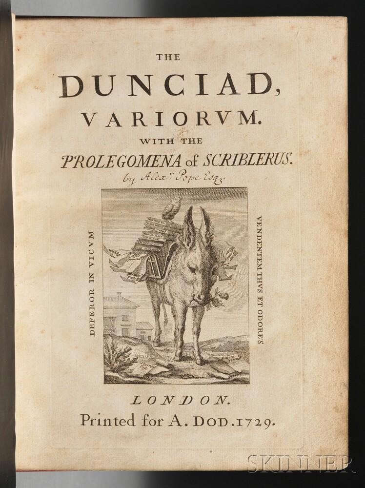 Pope, Alexander (1688-1744) The Dunciad, Variorum