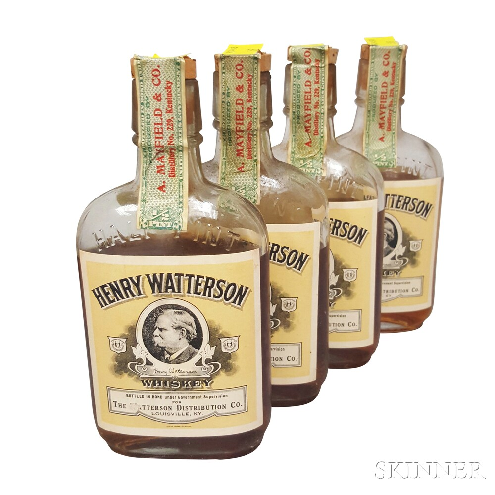 Henry Watterson 10 Years Old 1914, 4 1/2 pint bottles