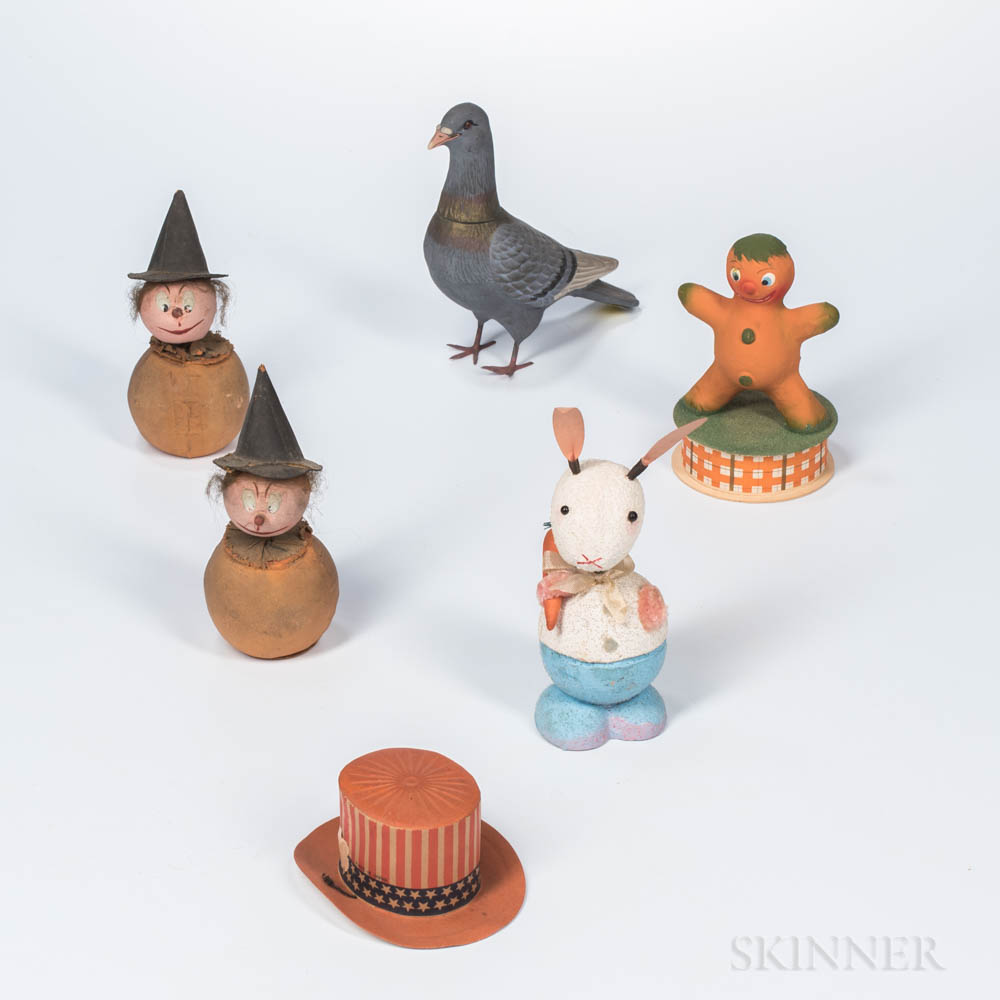 Six Figural Candy Containers