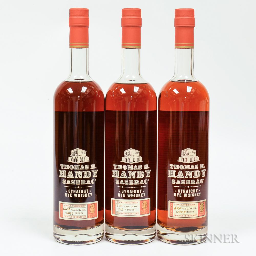 Buffalo Trace Antique Collection Thomas H Handy Sazerac Rye, 3 750ml bottles