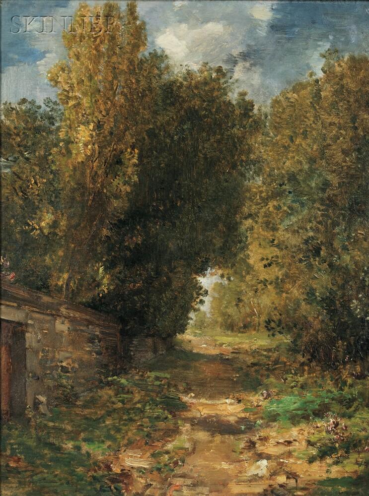 William Morris Hunt (American, 1824-1879)      A Country Lane