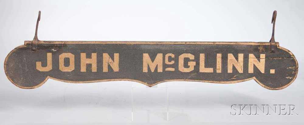 Black-painted and Gilt-lettered