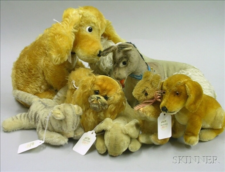 Eight Mohair Animals