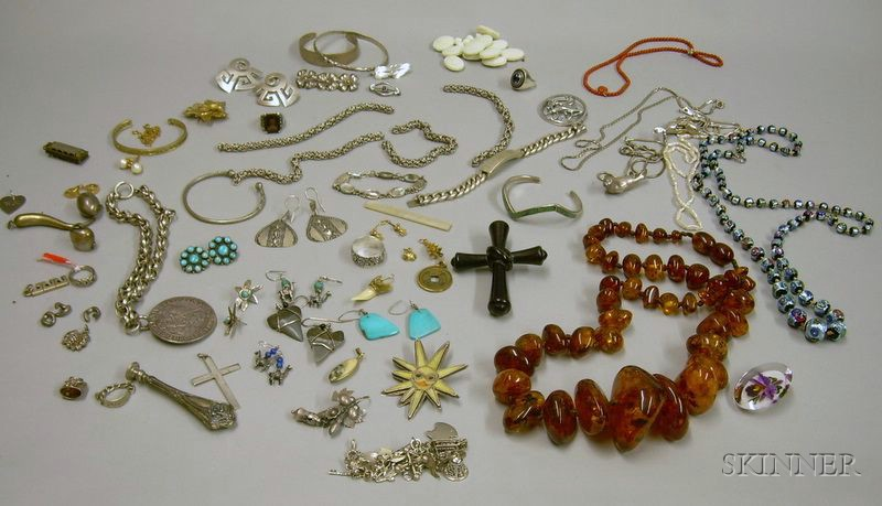 Lot of Costume and Sterling Silver Jewelry