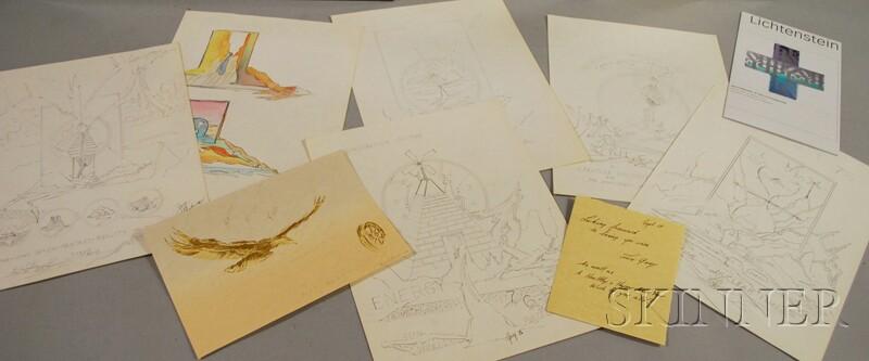 Twelve Works:      Gary Lichtenstein (American, 20th/21st Century), Silver Lining
