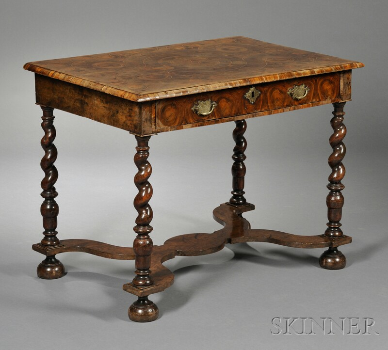 William & Mary Oyster Veneer Table