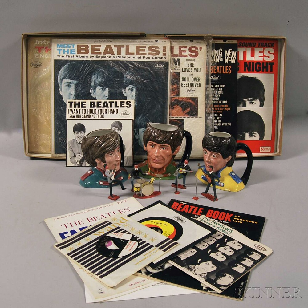 Group of Beatles Collectibles