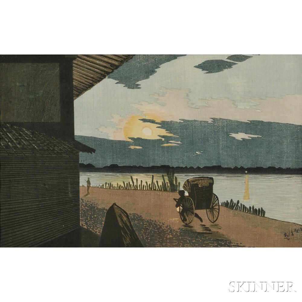 Kobayashi Kiyochika (1847-1915), Sunrise at Hyapponkui, Ryogoku, Tokyo