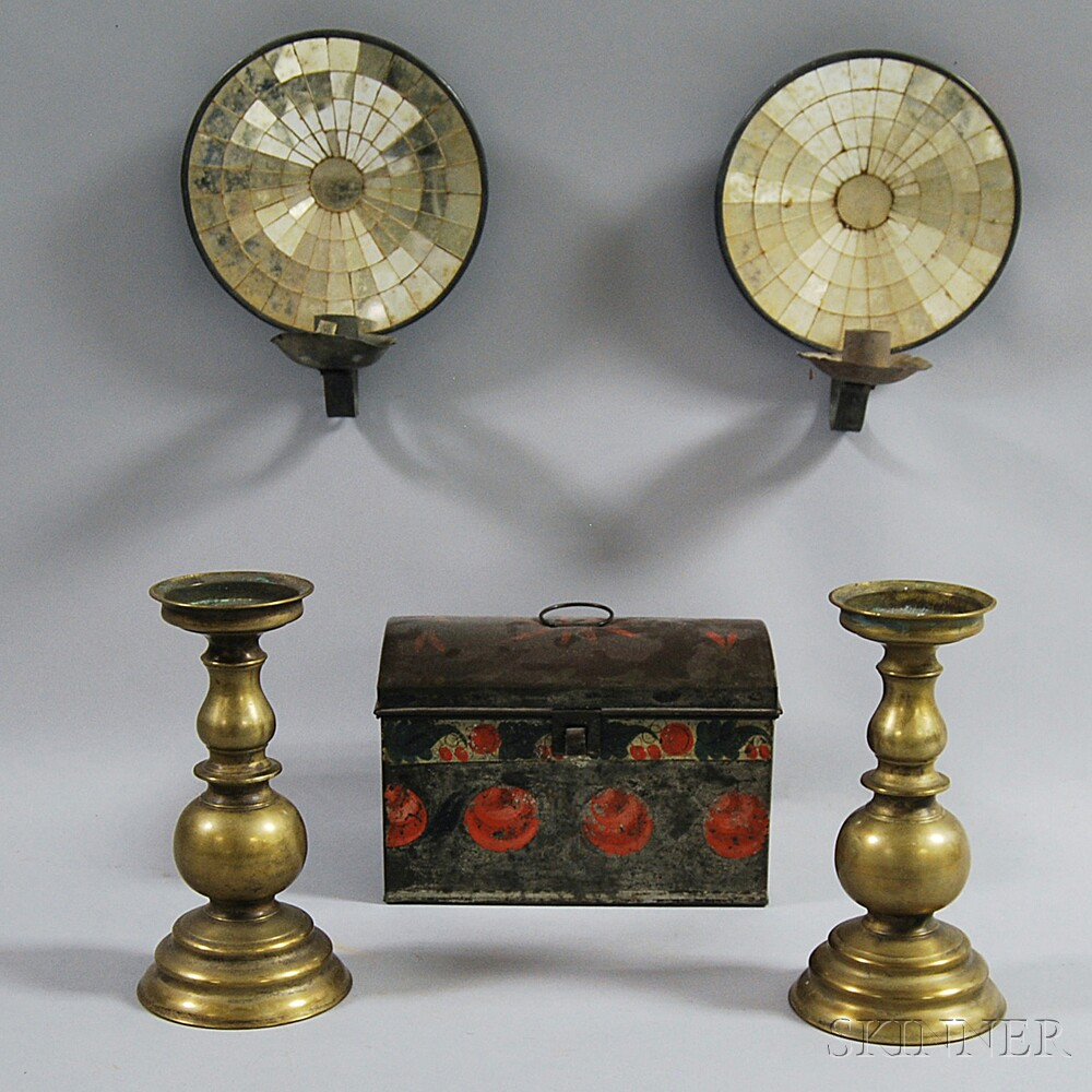 Five Decorative Metal Items