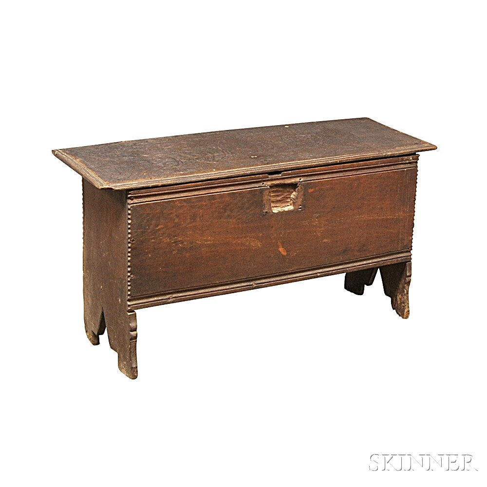 Chip-carved Oak Six-board Chest