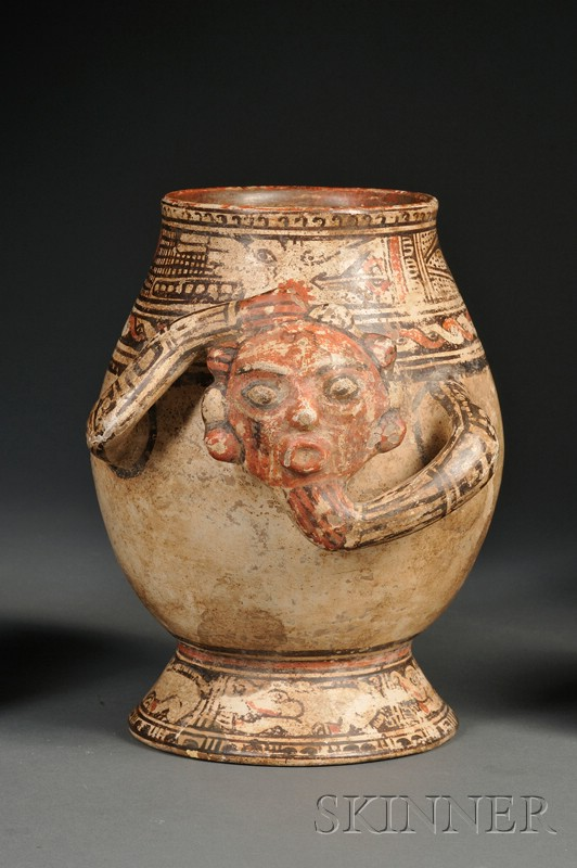 Central American Polychrome Pottery Urn