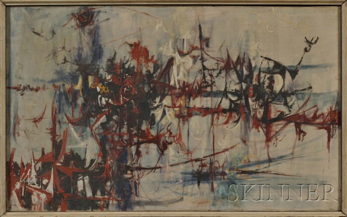 American School, 20th Century      Calligraphic Abstract