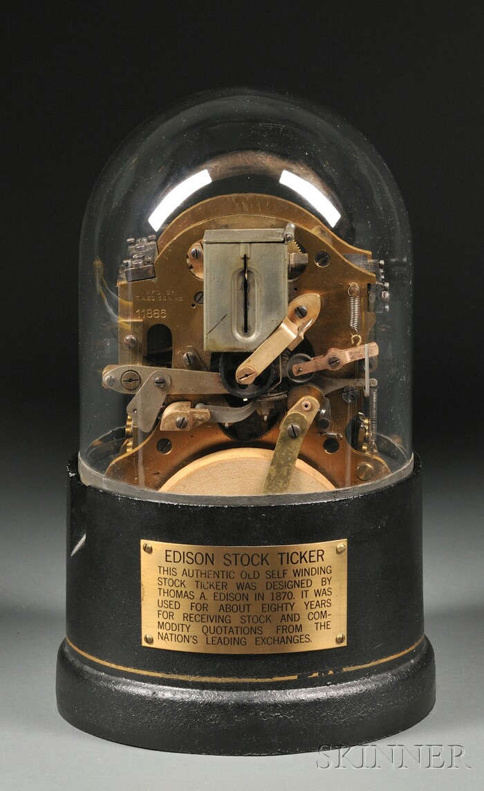 Edison Stock Ticker Sale Number 2555m Lot Number 228