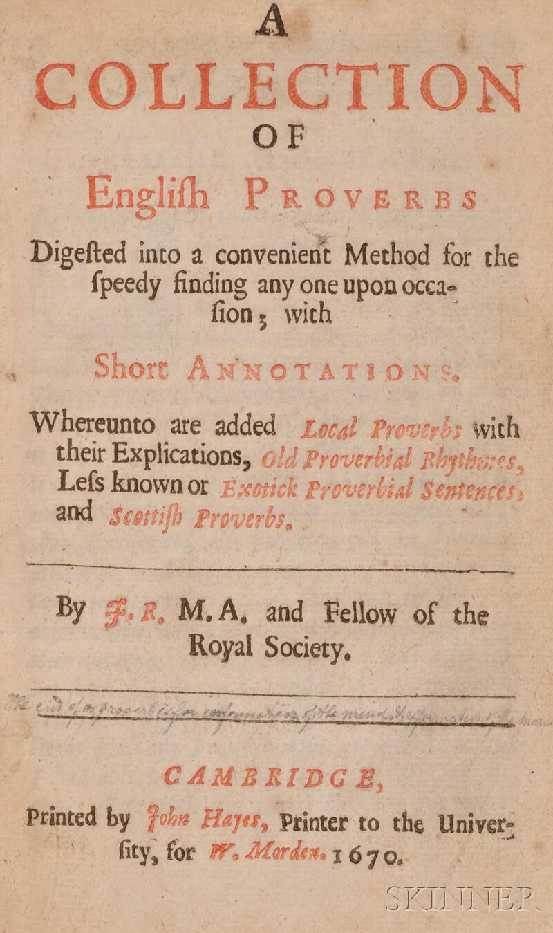 (Proverbs, English), Ray, John (1628-1705)