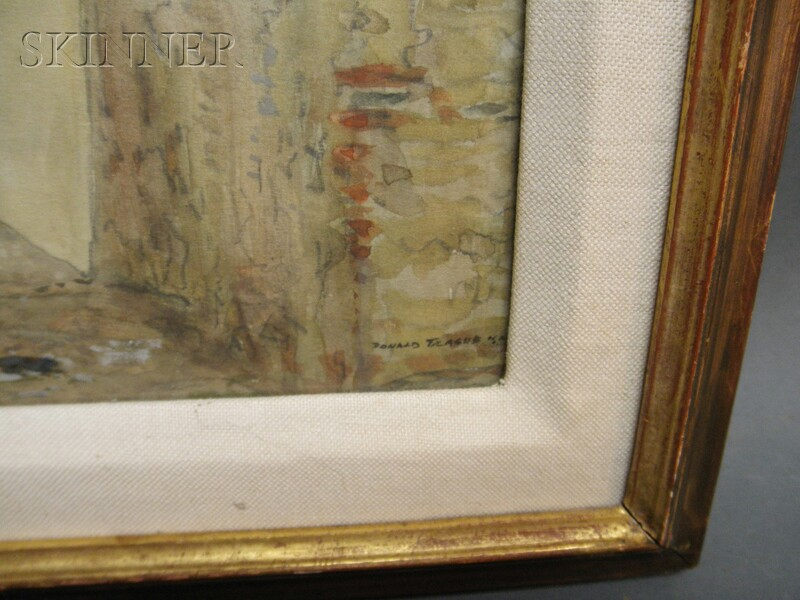 Donald (Edwin Dawes) Teague (American, 1897-1991)      Three Works: Clouds over la mancha ,  A Spanish Corridor