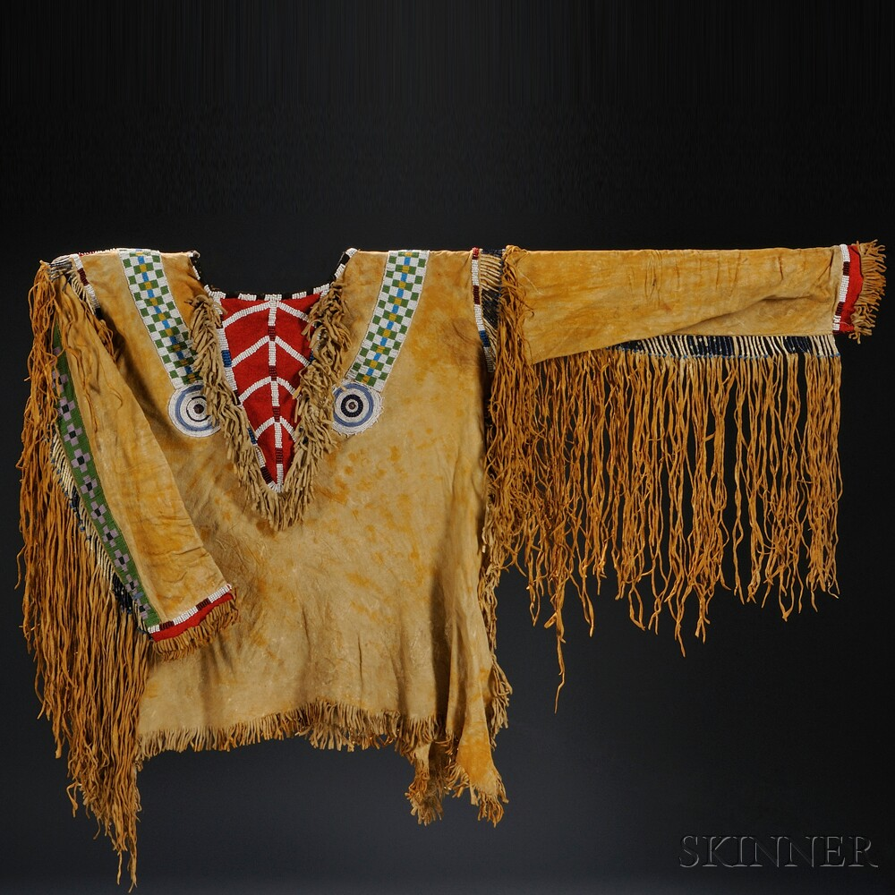 Rare Plains Pony, Seed Bead, and Quilled Hide Shirt