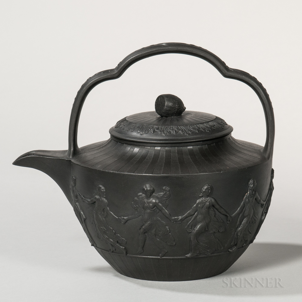 Wedgwood Black Basalt Teakettle and Cover
