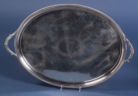 George III Silver Oval Tray